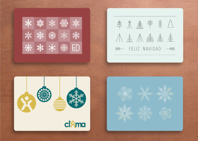 Christmas cards with company branding